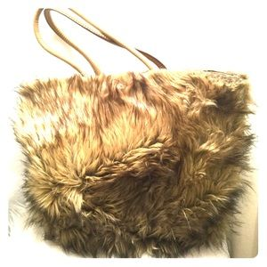 Faux Fur Tote Bag, Weekender Bag